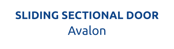THE SLIDING SECTIONAL DOOR - AVALON